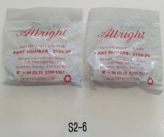 *NEW IN BAGS* LOT OF 2 Albright 2180-29 Moving Contact Assembly  + Fast Shipping