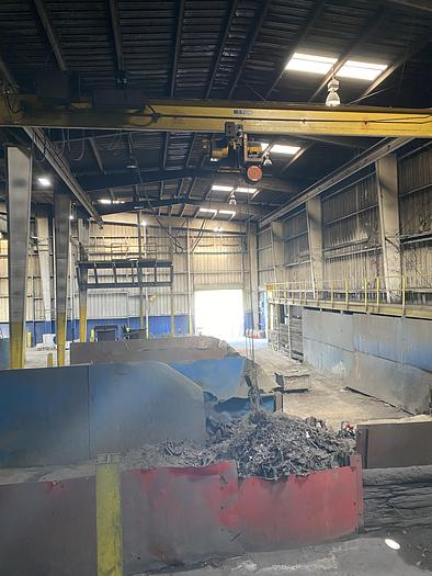 SCRAP FEED SYSTEM MAGNET-PREHEATER-CHARGE CONVEYOR.