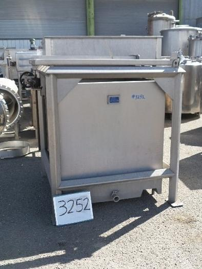 350 Gallon Square Stainless Steel Tank #3252