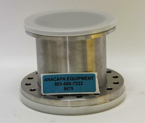 "Used Vacuum Half Nipple & Flanges 5"" to 6"" Stainless Steel, 4.5"" Long, DN100 (8679)W"