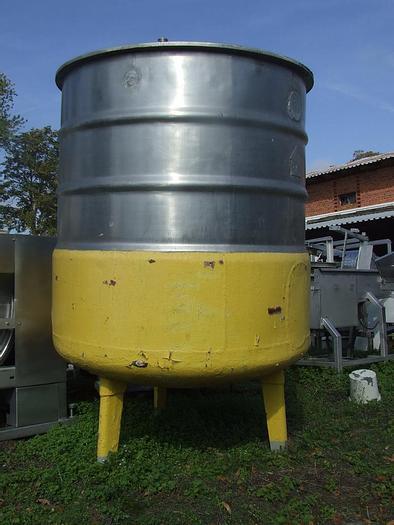Used Zbiornik z mieszadłem ramowym i płaszczem do chłodzenia i podgrzania poj. 1.800 l