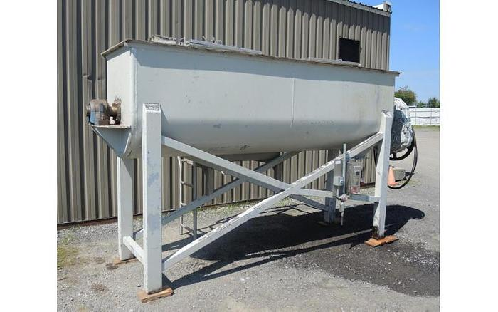 USED RIBBON BLENDER, 80 CUBIC FEET, DOUBLE RIBBON, CARBON STEEL