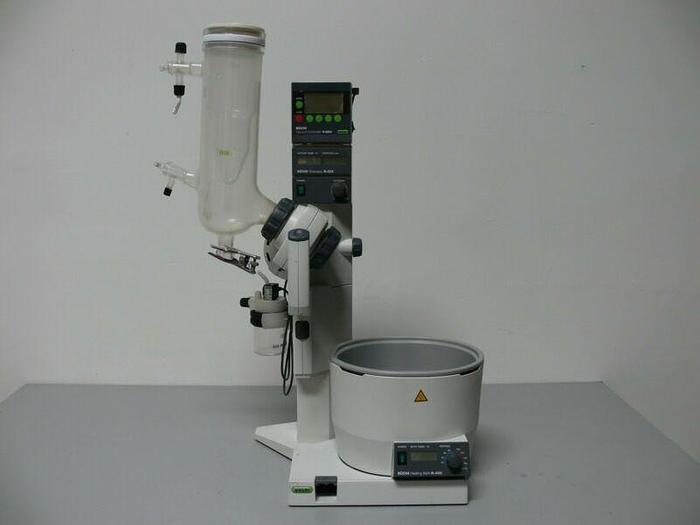 Used Buchi R-205 Rotavapor with Buchi B-490 Oil / WaterBath & V-800 Vacuum Controller