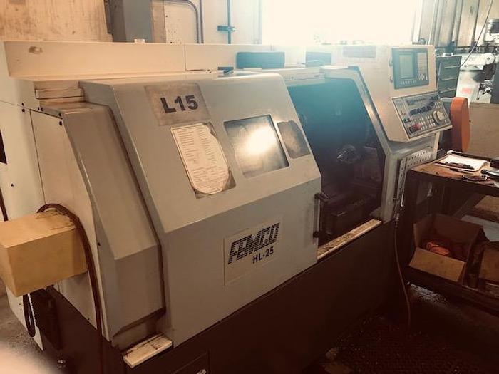 Used 2008 FEMCO HL-25 CNC Lathe with Fanuc 0iT-C Controls