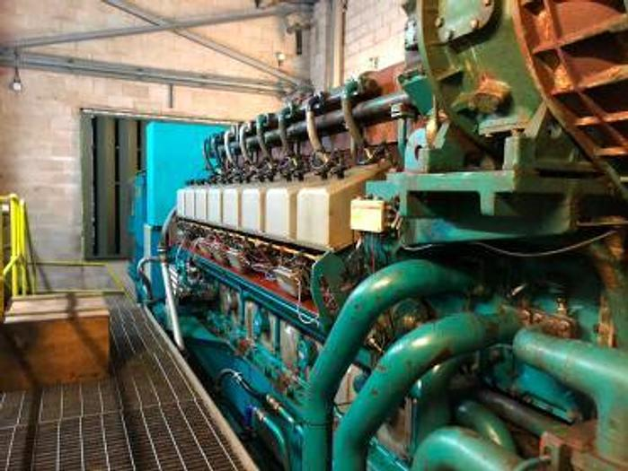 3 MW 1997 Used Wartsila W16-25SG Natural Gas Generator
