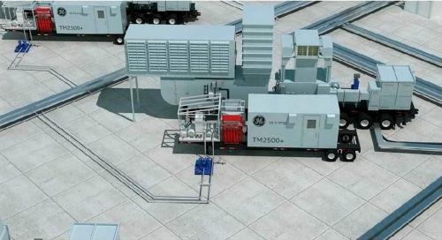 Used 31 MW 2012 Used GE TM2500+G6 Mobile Gas Turbine Generator