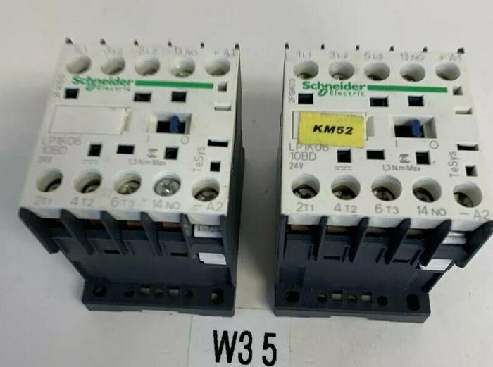 SCHNEIDER ELECTRIC  LP1K0610BD CONTACTOR 24V (LOT OF 2) FAST SHIPPING!