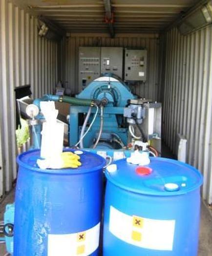 Used Complete decanter sludge dewatering unit