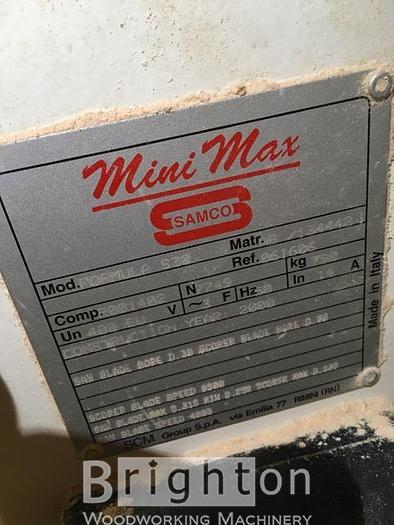 2000 SCM MiniMax Formula S30 Sliding Saw