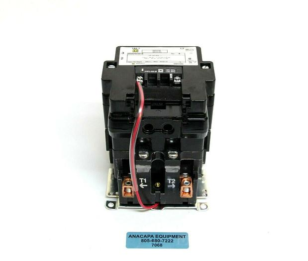 Used Square D 8502 SEO1 S Full Voltage AC Magnetic Contactor Type S + Auxiliary (7068