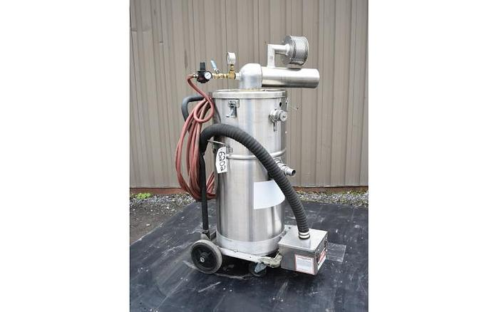 USED NILFISK EXP1-75A EXPLOSION PROOF STAINLESS STEEL INDUSTRIAL VACUUM CLEANER