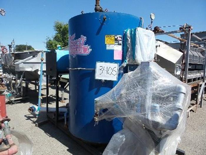 Used Hurst 50 Hp Vertical Steam Boiler