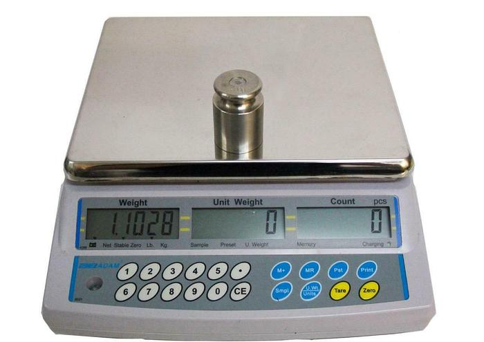 Used Adam Equipment CBC 8A Two Channel Count Scale 0.0002 to 8 LBS Capacity (7691) W 30955635095