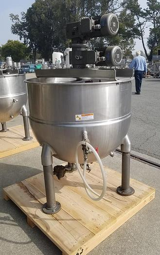 Used 150 GALLON GROEN DOUBLE MOTION COUNTER ROTATING KETTLE – S/S (#9785)