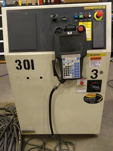 2012 FANUC M900iA/600 6 AXIS CNC ROBOT WITH R30iA & 15' 7TH AXIS TRACK