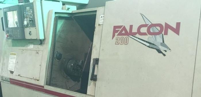 Cincinnati Falcon 200 ERL CNC Lathe, Acramatic 2100 CNC, RS232C Interface, 1997