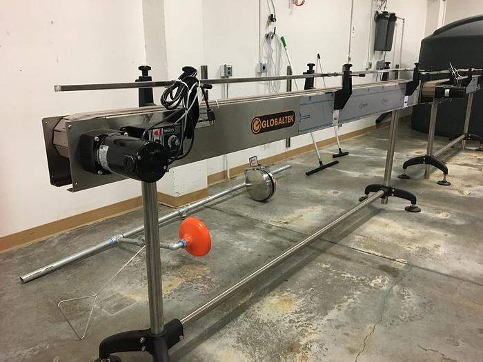 "5"" Wide x 10' Table Top Chain Conveyor"