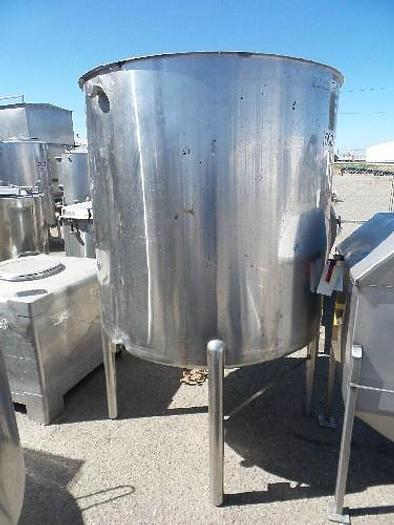 Used 500 Gallon Vertical Stainless Steel Tank