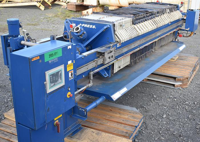 Used US filter Dewatering system press, plate and frame filter press, JWI J-Press
