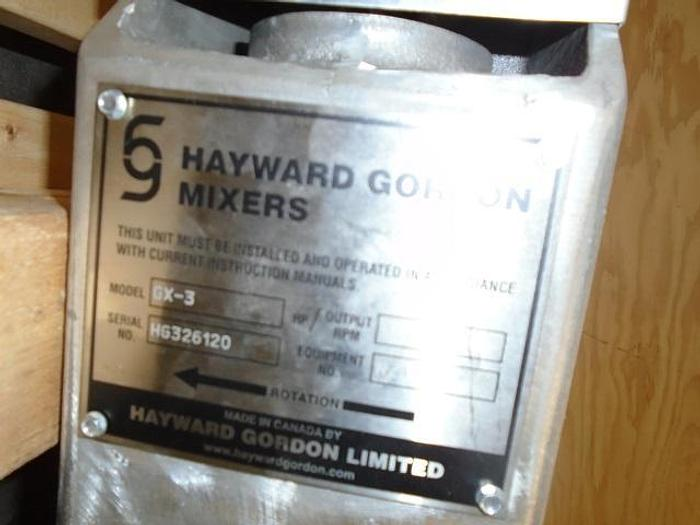 USED HAYWARD GORDON TOP ENTRY MIXER, 316 STAINLESS STEEL, 3 HP