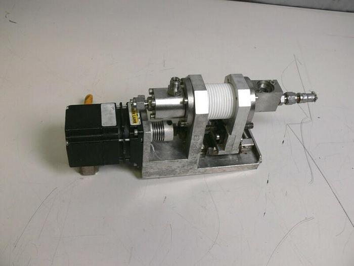 Used Berger Lahr VRDM 564/50 LNC Motor w/ Sensor & Linear Motion Press Assembly