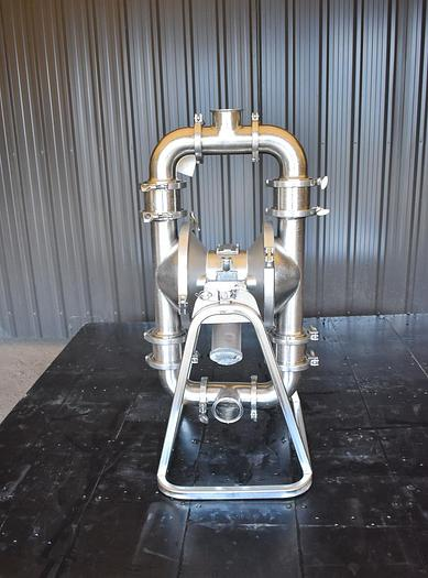 Used USED GRACO SANIFORCE DIAPHRAGM PUMP, 3'' INLET & OUTLET, 316 STAINLESS STEEL