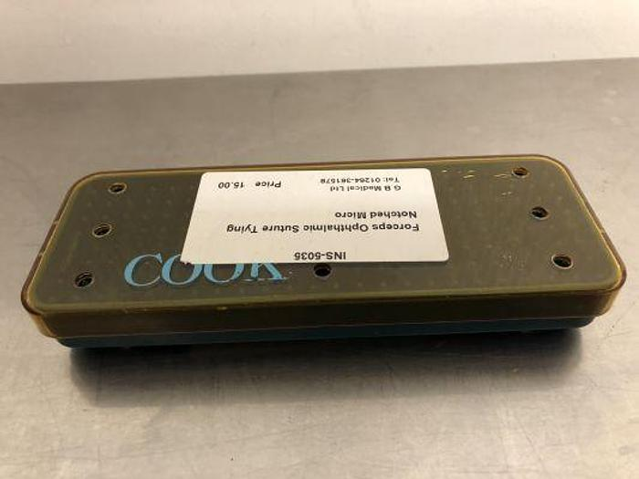 Case Instrument Cook with Dimple Rubber Insert  160 x 60 x 20mm