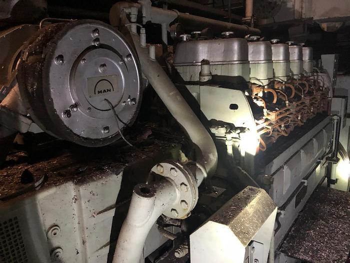 Used MAN 5L23/30H 50 Hz 750 RPM marine generator sets