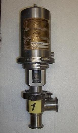 """Used 1 1/2"""" Sanitary Air Actuated Diverter Valve - Stainless Fittings Equipment"""