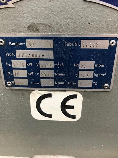 Radialventilator Absaugung H70/800-M