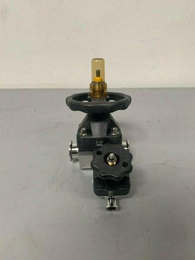 """Used ITT Pure-Flo 1.5 / .75-316L-RA20MAX-CWP150  w/ 1 1/2"""" & 3/4"""" Sanitary Fittings"""
