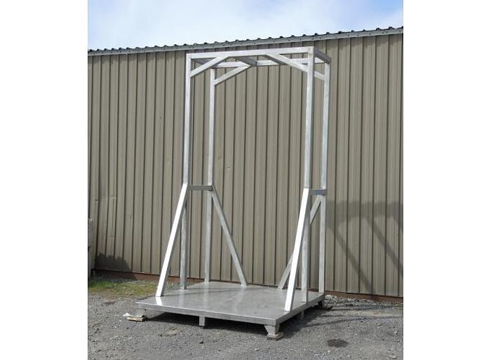 USED STAINLESS STEEL FRAME, 76'' X 76'' X 142'' HIGH