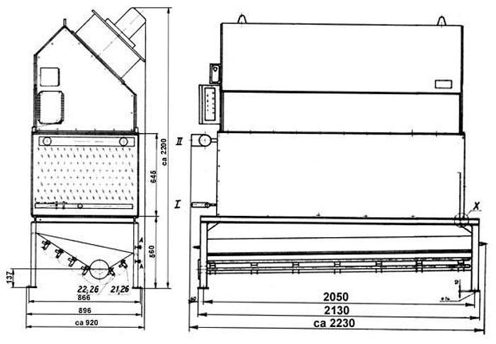 Używane Chłodnica amoniakalna do komór minusowych, 2-wentylatorowa, na powierzchnię 135 m2