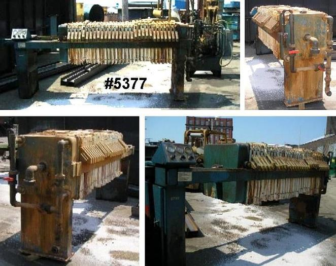 Used 9 CU. FT. JWI FILTER PRESS – 630 MM – NON-GASKETED