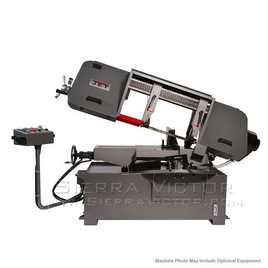 JET HBS-1220MSAH Semi-Automatic Mitering Variable Speed Bandsaw with Hydraulic Vise 424475