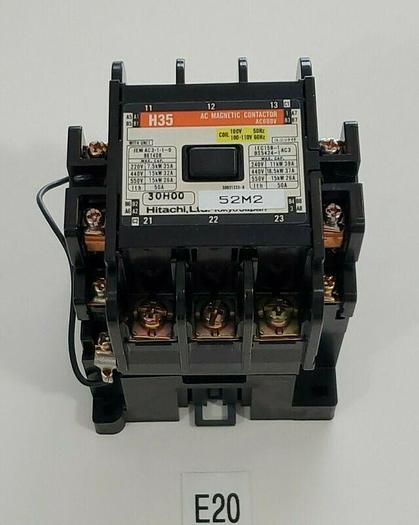 Used *PREOWNED* Hitachi H35 AC Magnetic Contactor AC600V w/ CS-8 Coil Absorber
