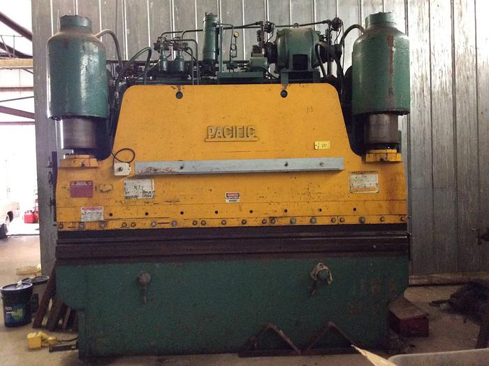 Used Pacific 200 ton hydraulic press metal brake