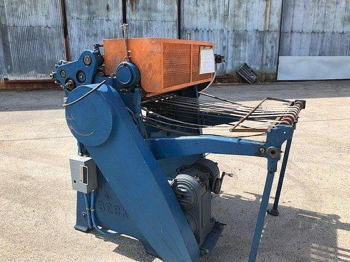 "Used 36"" Beck sheeter shafted unwind"