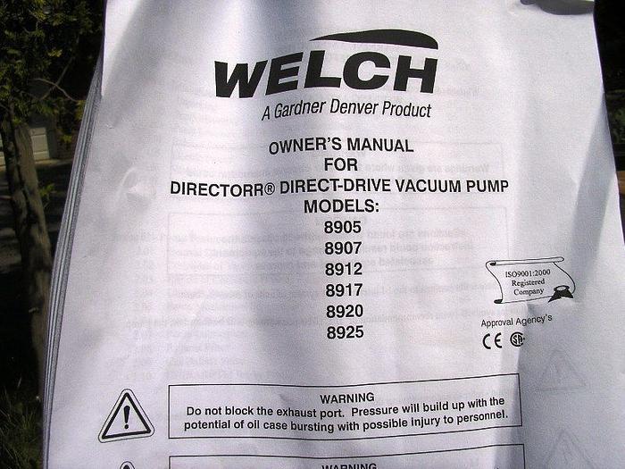 Welch 8905