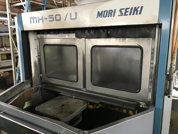 1997 MORI SEIKI MH-50U, 5 AXIS CNC Horizontal Machining Center