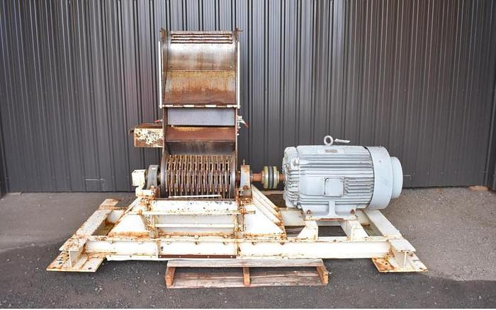 USED SCHUTTE HAMMER MILL, SWINGING HAMMERS, CARBON STEEL, 125 HP