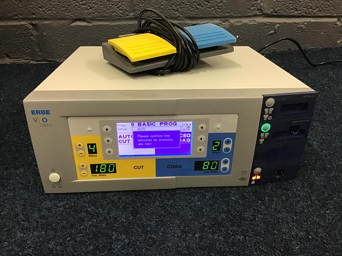 Used Erbe VIO Diathermy with Footswitch 200S