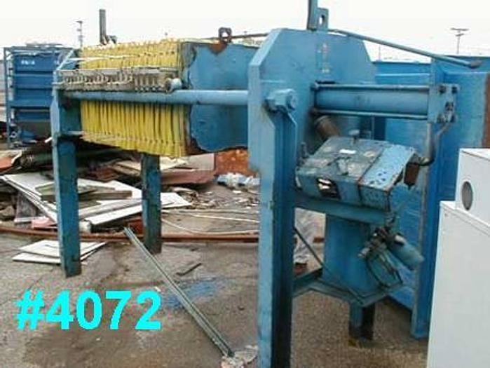 Used 7 CU. FT. DURCO FILTER PRESS – 630 MM
