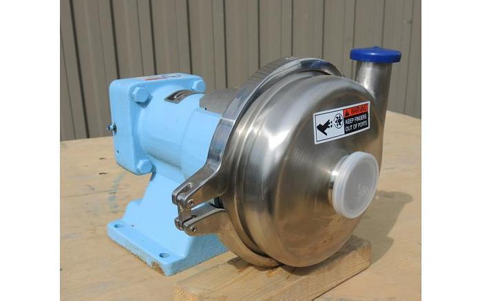 "USED CENTRIFUGAL PUMP, 2'' X 1.5'' INLET & OUTLET, ""WAUKESHA"", 200 SERIES, STAINLESS STEEL"