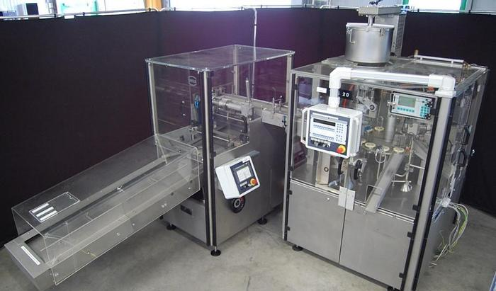 Used J 14741 D - Tube Filling and Cartoning Line IWKA TFS 20 / CPR