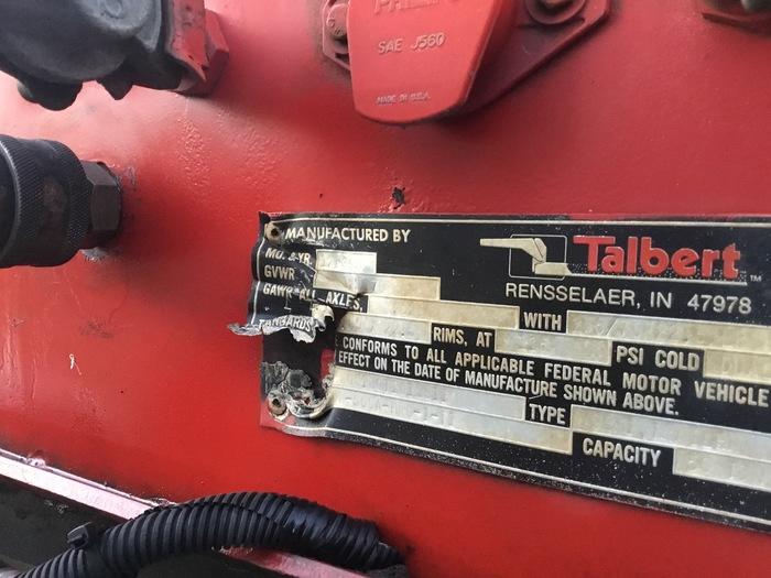 1995 Talbert Talbert 50 ton lowboy