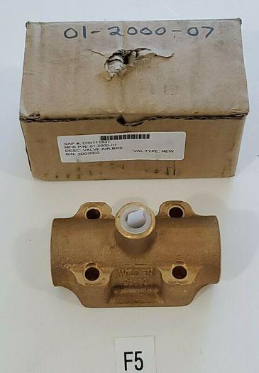 *NEW* Wilden 01-2000-07 Wilden Diaphragm Pump Brass Air Valve Assembly +Warranty