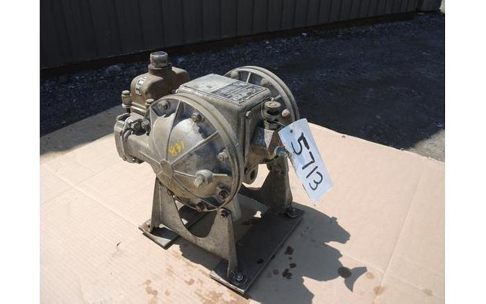 """USED DIAPHRAGM PUMP, 1"""" X 1"""" INLET & OUTLET, STAINLESS STEEL"""