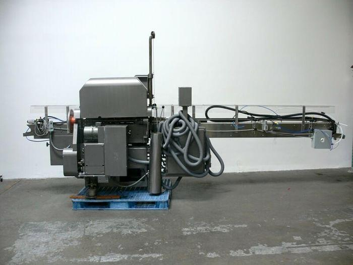 Used Lakso Model 71 Twin Head Cottoner w/ Conveyor