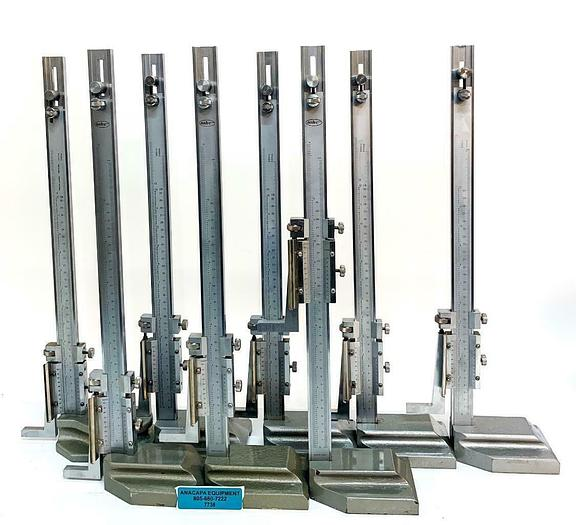 """Used MHC Vernier Height Gages, 622-8232 12"""" Range 0.001"""" Gradation, Lot of 8 (7738)W"""